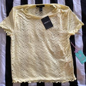Brand new crop top from forever 21  size L